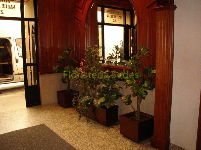 Decoraci N Portal Con Jardineras Inox